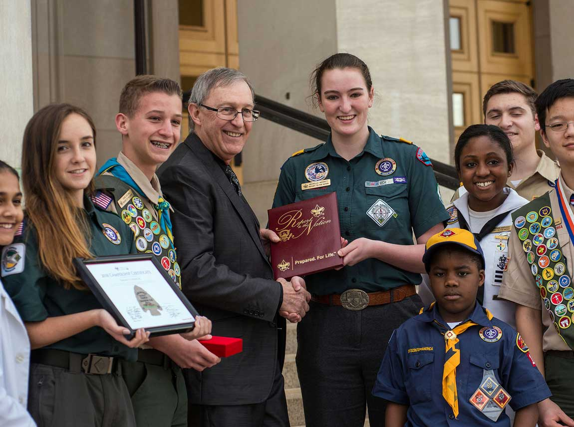 Michelle Merritt '16, President of Boy Scouts Venturing, Delivers Report to the Nation