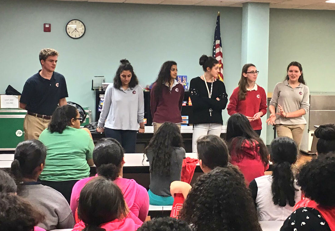 "CCHS Peer Leaders Helps Middle School Students ""Find Your Future"""