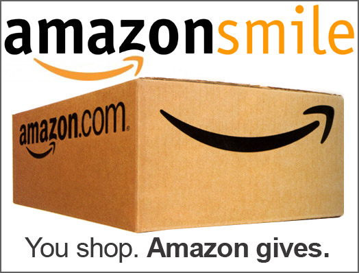Amazonsmile shipping box. You shop. Amazon gives.