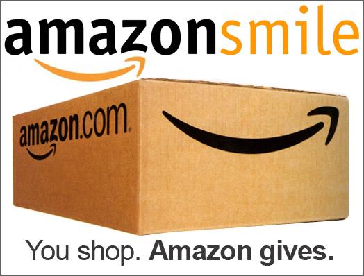 Amazonsmile shipping box. You shop. Amazon gives.