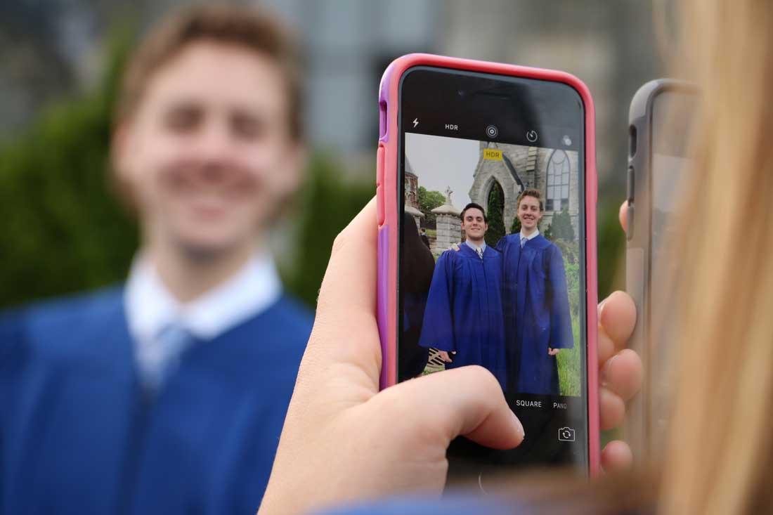 Graduates before the 2017 Baccalauraeate Mass.